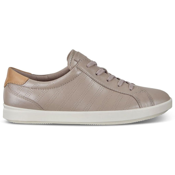 Ecco Leisure 205033 Leather Womens Trainers#color_grey rose metallic powder