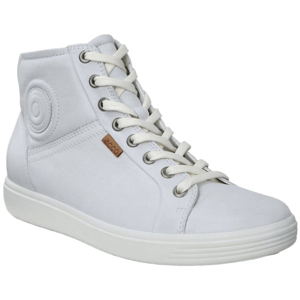 Ecco Soft 7 430023 Leather Womens Trainers#color_white droid