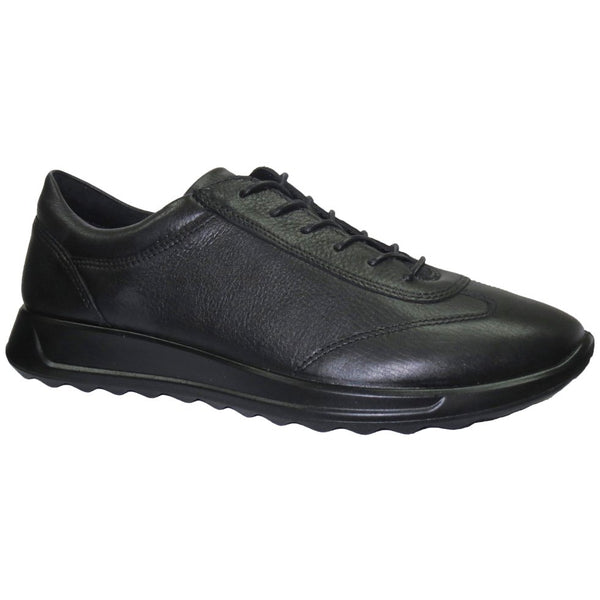 Ecco Flexure Runner 292333 Leather Womens Trainers#color_black