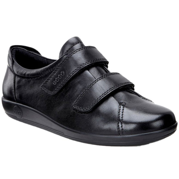 Ecco Soft 2.0 206513 Leather Womens Shoes#color_black