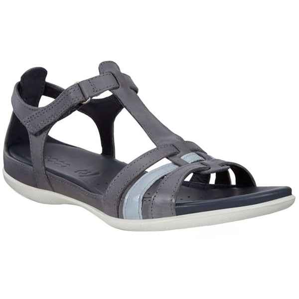 Ecco Flash 240873 Leather Womens Sandals#color_marine dusty blue metallic