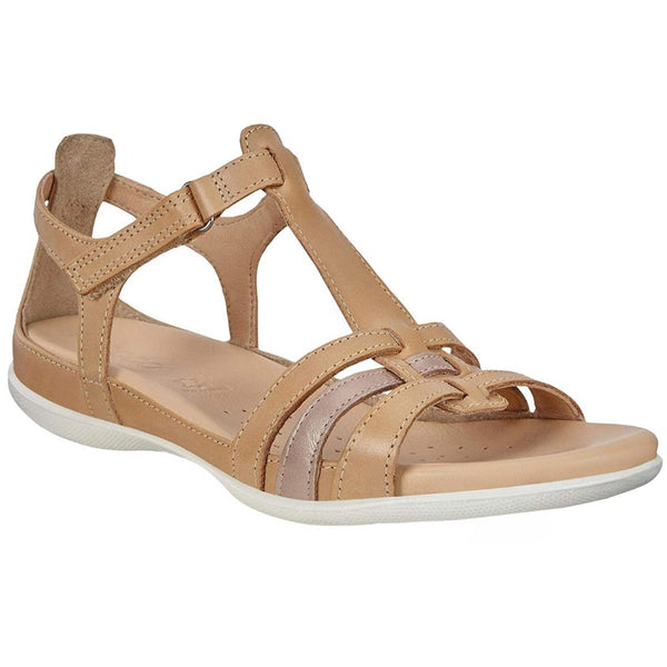 Ecco Flash 240873 Leather Womens Sandals#color_powder champagne metallic
