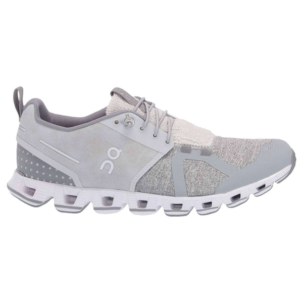 On Running Cloud Terry Textile Synthetic Mens Trainers#color_silver