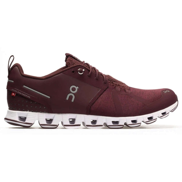 On Running Cloud Terry Textile Synthetic Mens Trainers#color_ruby