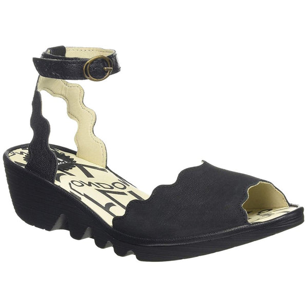 Fly London PINE192FLY Cupido Mousse Leather Womens Sandals#color_black