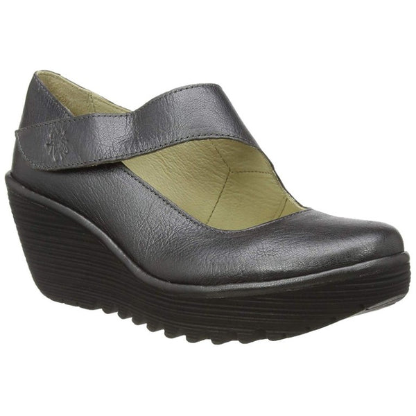 Fly London YASI682FLY Idra Leather Womens Shoes#color_graphite