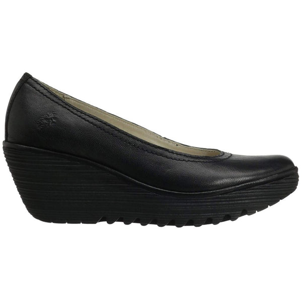 Fly London YONI Leather Womens Shoes#color_black