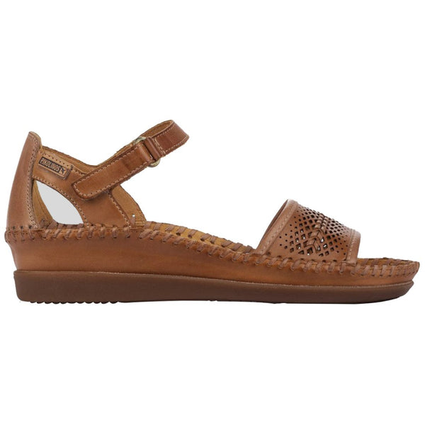 Pikolinos Cadaques W8K-1875 Leather Womens Sandals#color_brandy