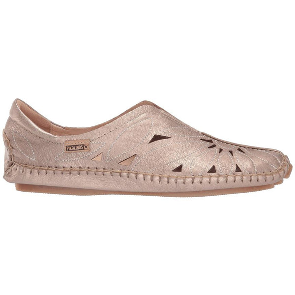 Pikolinos Jerez 578-7399CL Metallic Leather Womens Shoes#color_champagne