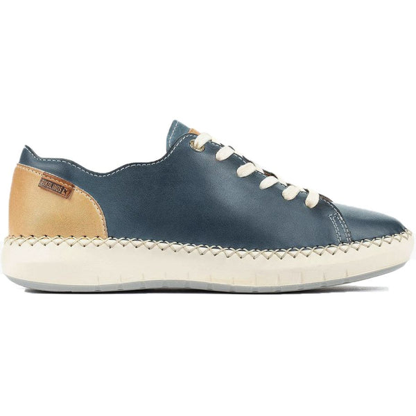 Pikolinos Mesina W6B-6839 Leather Womens Shoes#color_sapphire