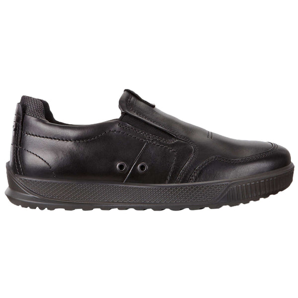 Ecco Byway 501554 Leather Mens Trainers#color_black