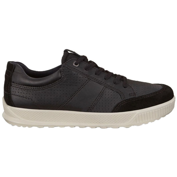 Ecco Byway 501564 Leather Mens Trainers#color_black