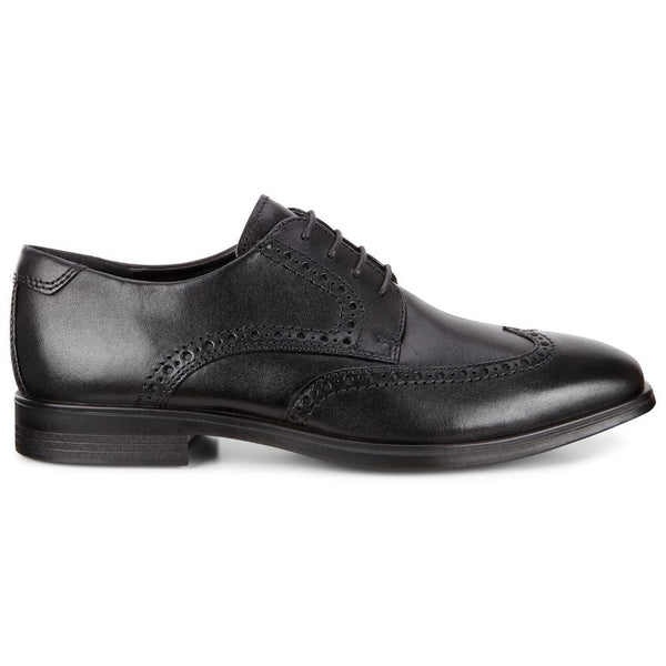 Ecco Melbourne 621664 Leather Mens Shoes#color_black