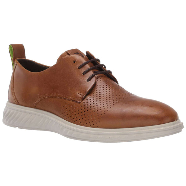 Ecco St 1 Hybrid Lite 837254 Leather Mens Shoes#color_amber