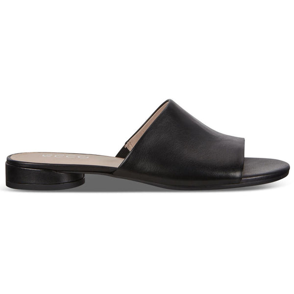 Ecco W Flat 208403 Leather Womens Sandals#color_black