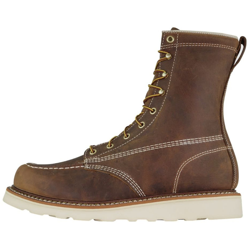 Thorogood 8 Inch Moc Toe Non Safety Crazyhorse Leather Mens Boots