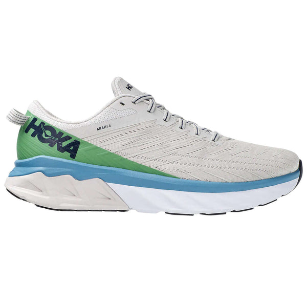 Hoka One One Arahi 4 Textile Synthetic Mens Trainers#color_lunar rock nimbus cloud
