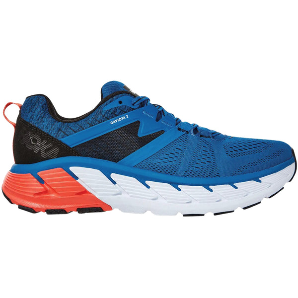 Hoka One One Gaviota 2 Textile Synthetic Mens Trainers#color_imperial blue anthracite