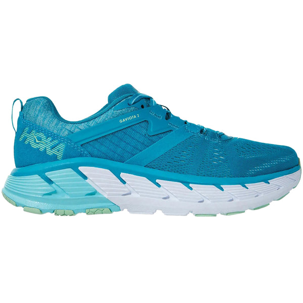 Hoka One One Gaviota 2 Textile Synthetic Womens Trainers#color_caribbean sea green ash