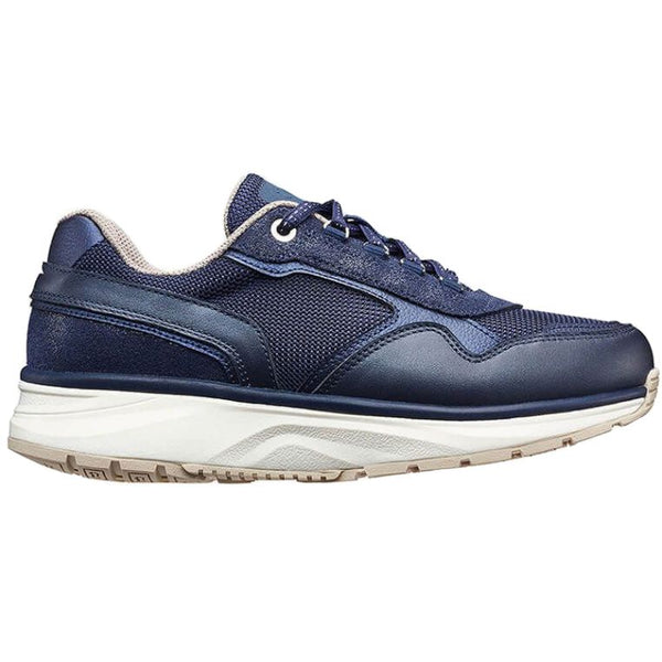 Joya Tina II Leather Textile Womens Trainers#color_dark blue