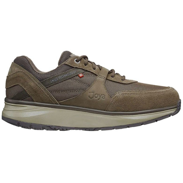 Joya Tony II Suede Textile Mens Trainers#color_light brown