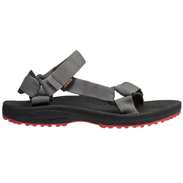 Teva Winsted Solid Textile Mens Sandals#color_black red
