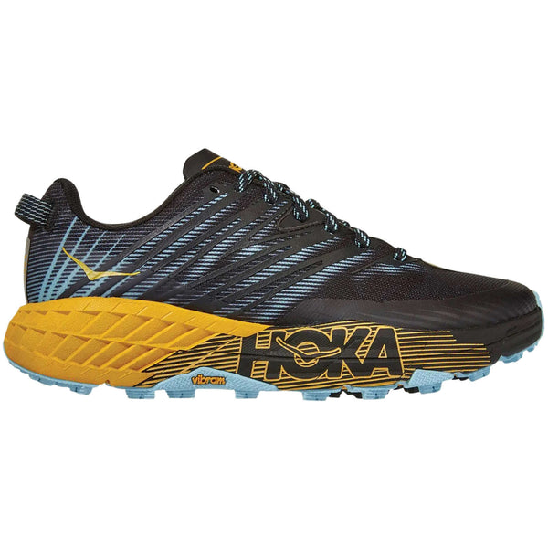 Hoka One One Speedgoat 4 Textile Synthetic Womens Trainers#color_antigua sand anthracite