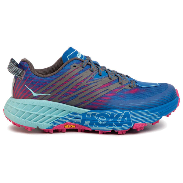 Hoka One One Speedgoat 4 Textile Synthetic Womens Trainers#color_imperial blue pink peacock