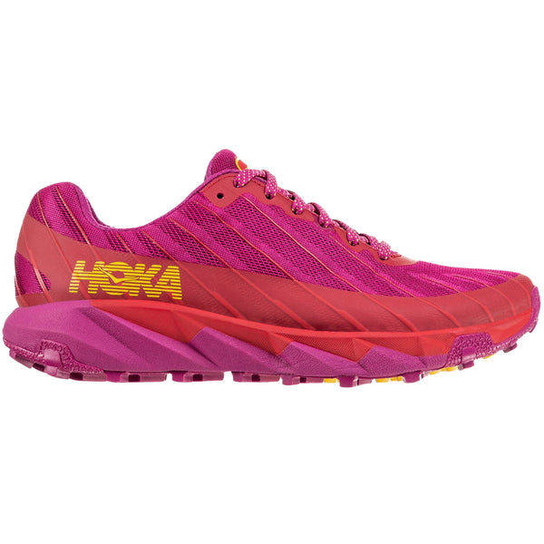 Hoka One One Torrent Textile Synthetic Womens Trainers#color_cactus flower poppy red