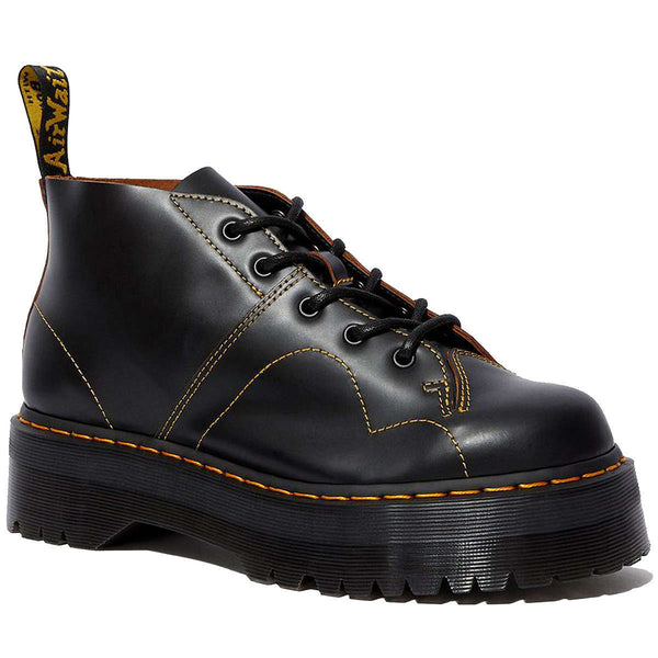Dr.Martens Church Quad Vintage Leather Unisex Boots#color_black