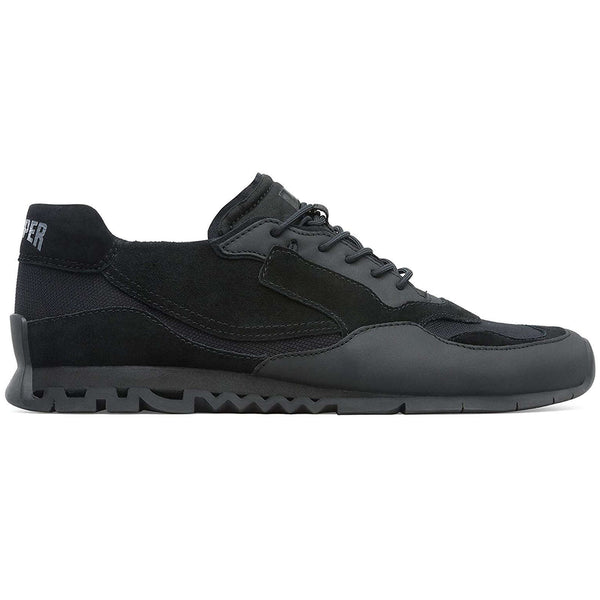 Camper Nothing K100436 Suede Textile Mens Trainers#color_black