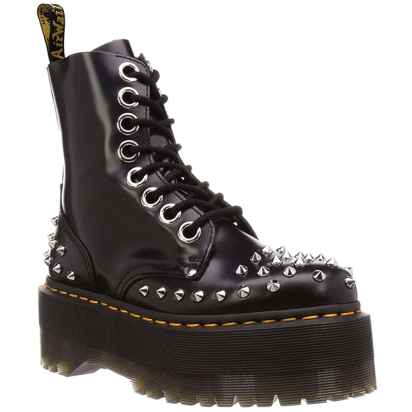 Dr.Martens Jadon Max Stud Buttero Leather Womens Boots#color_black