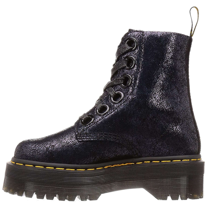 Dr.Martens Molly Iridescent Crackle Leather Womens Boots