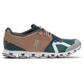 On Running Cloud 70/30 Textile Synthetic Womens Trainers#color_mocha evergreen