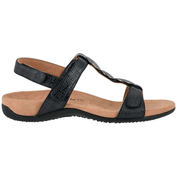 Vionic Rest Farra II WVN Synthetic Womens Sandals#color_black