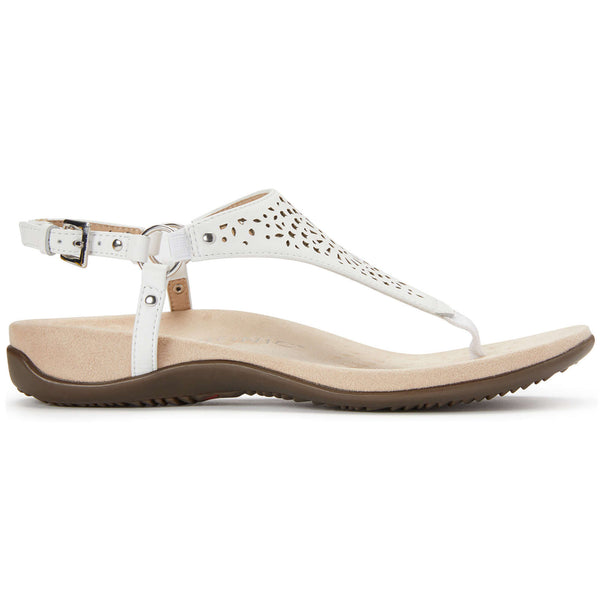 Vionic Rest Kirra Perf Leather Womens Sandals#color_white