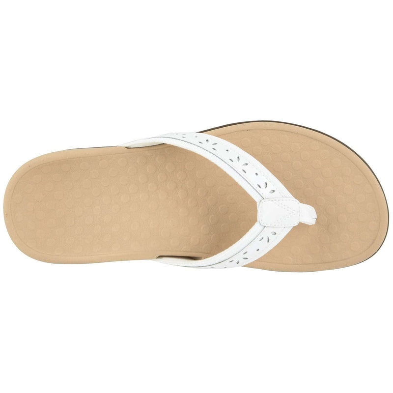 Vionic Tide Casandra Leather Textile Womens Sandals