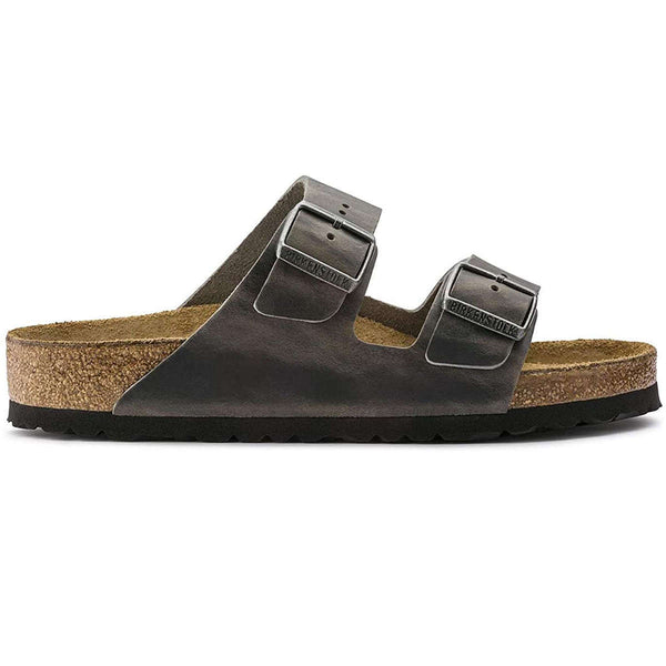 Birkenstock Arizona BS Waxy Leather Unisex Sandals#color_iron