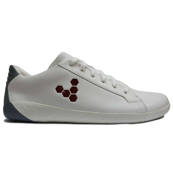 Vivobarefoot Geo Court Leather Mens Trainers#color_white blue red