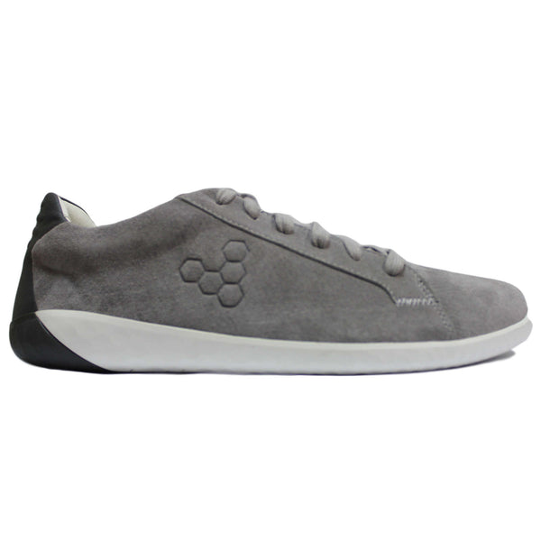 Vivobarefoot Geo Court Leather Mens Trainers#color_zinc grey