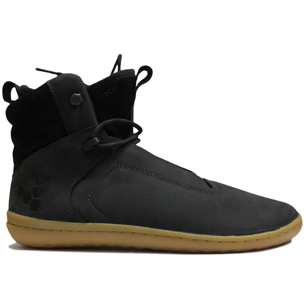 Vivobarefoot Kasana Leather Textile Womens Boots#color_obsidian