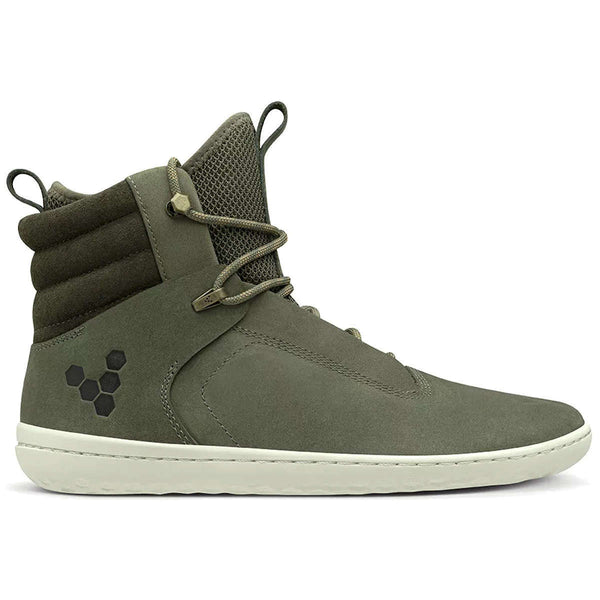 Vivobarefoot Kasana Leather Textile Womens Boots#color_green