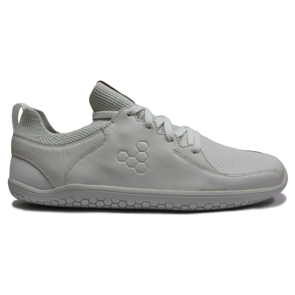 Vivobarefoot Primus Knit Lux Leather Mens Trainers#color_white