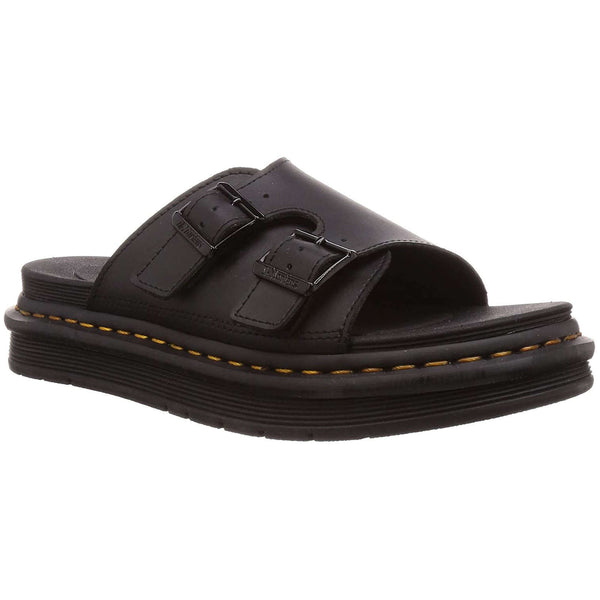 Dr.Martens Dax Hydro Leather Mens Sandals#color_black