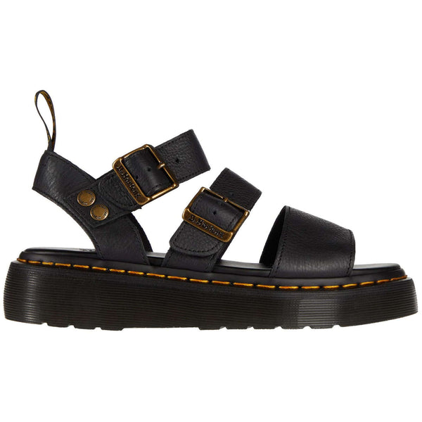 Dr.Martens Gryphon Quad Pisa Leather Womens Sandals#color_black