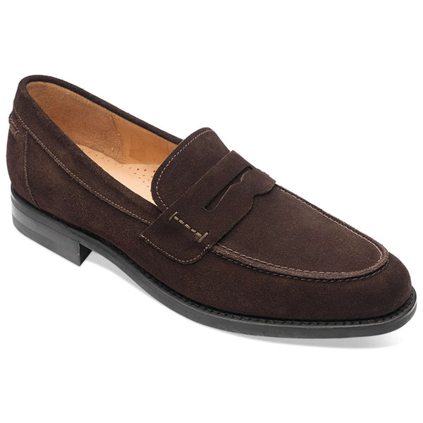 Loake 356 Suede Mens Shoes#color_dark brown