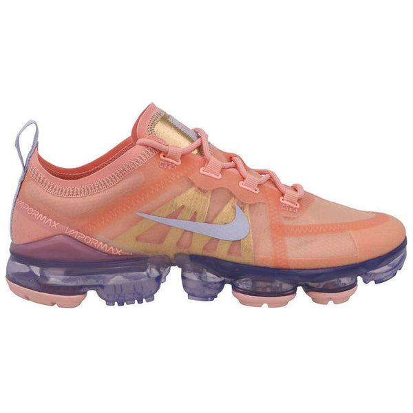 Nike Air Vapormax 2019 Textile Synthetic Womens Trainers#color_bleached coral
