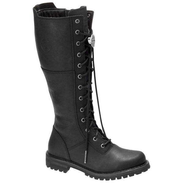 Harley Davidson Walfield Leather Womens Boots#color_black