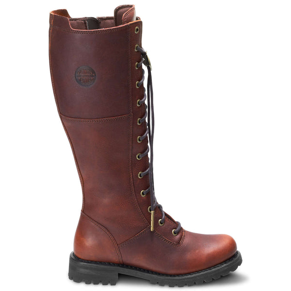 Harley Davidson Walfield Leather Womens Boots#color_rust