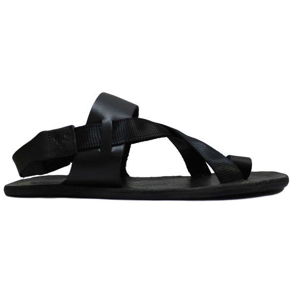 Vivobarefoot Kuru Leather Womens Sandals#color_obsidian black